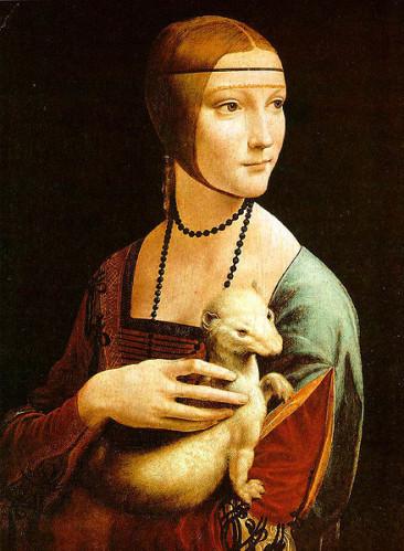Leonard-De-Vinci-La-dame-a-l-hermine--Portrait-de-Cecilia